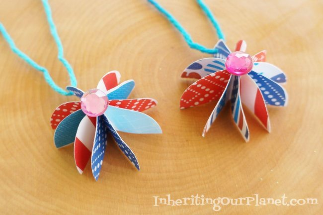 Fire Cracker Paper Necklace Craft