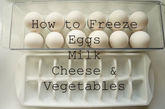 How to Freeze Eggs, Milk, Cheese, and, Vegetables