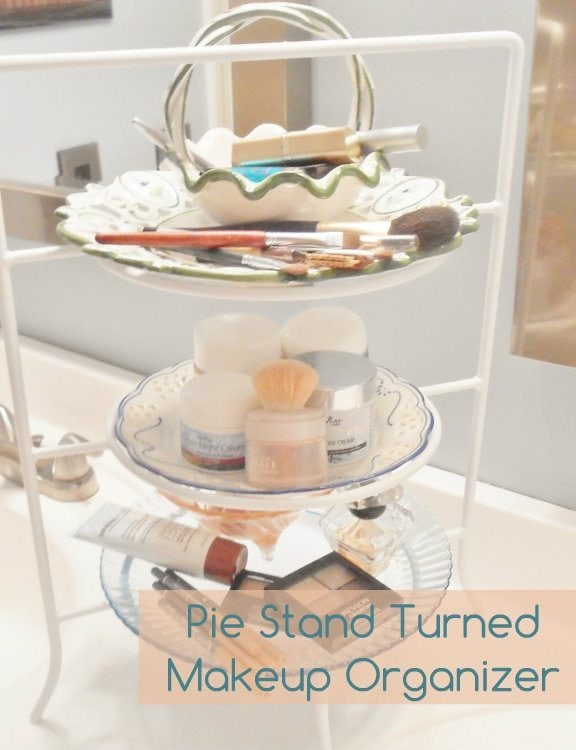 Pie Stand Turned Makeup Organizer