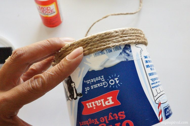 Repurposed Yoghurt Container turned Basket