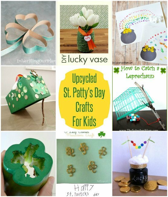 Upcycled Saint Patrick's Day Crafts for Kids