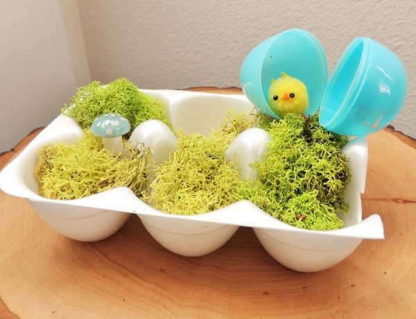 Egg Carton Easter Decoration