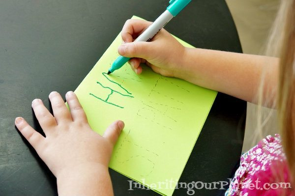 Preschool Card Writing Kids Activity