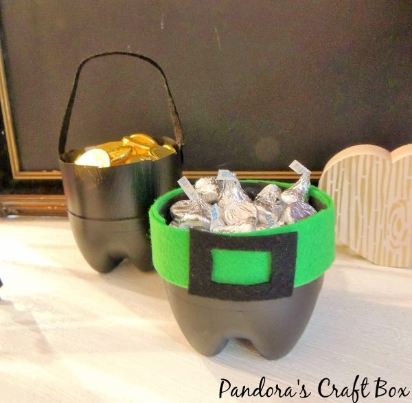 Recycled Soda Bottle Pots of Gold