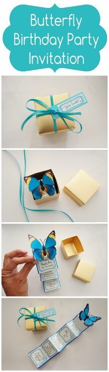 Butterfly Birthday Party Invitiation DIY