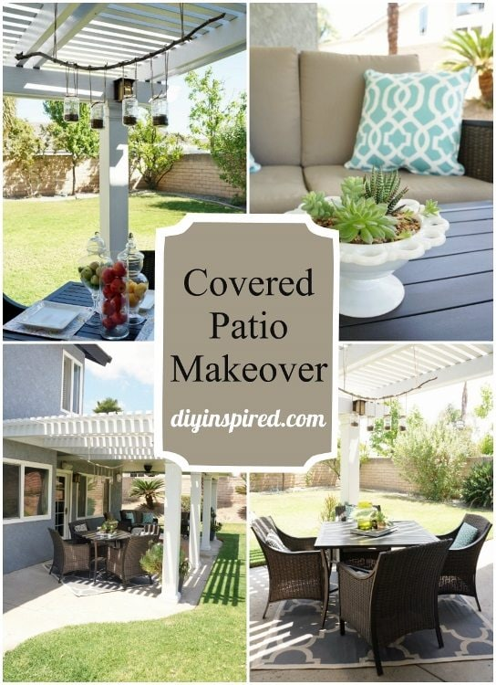 Covered Patio Makeover DIY Inspired