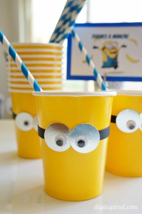 DIY Minion Party Cups