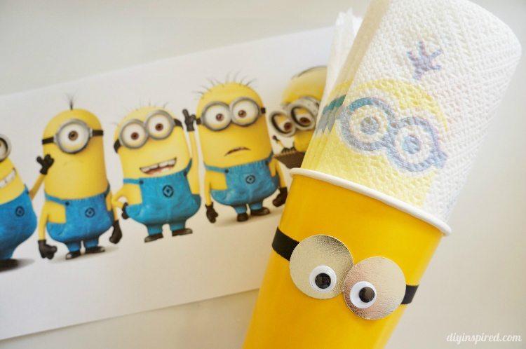 DIY Minion Party Ideas with Bounty Minion Prints Napkins