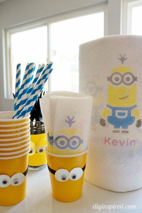 DIY Minion Party Ideas with Bounty Minion Prints
