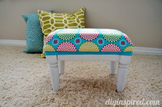 DIY Thrift Store Stool Makeover AFTER