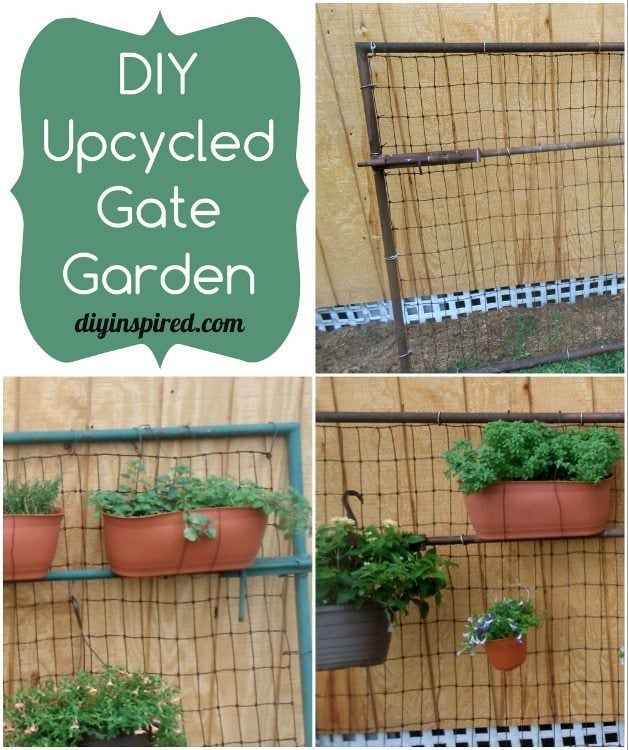 DIY Upcycled Gate Garden
