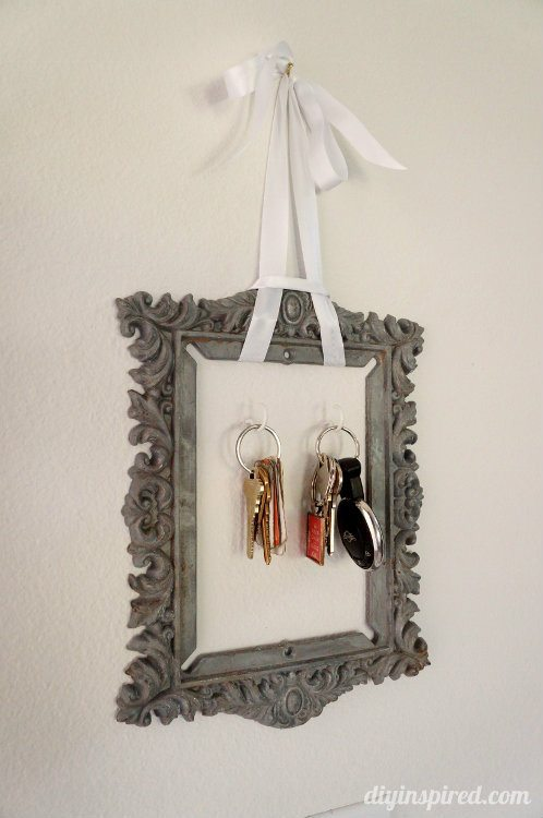 Flea Market Finds -Repurposed Metal Frame Key Holder