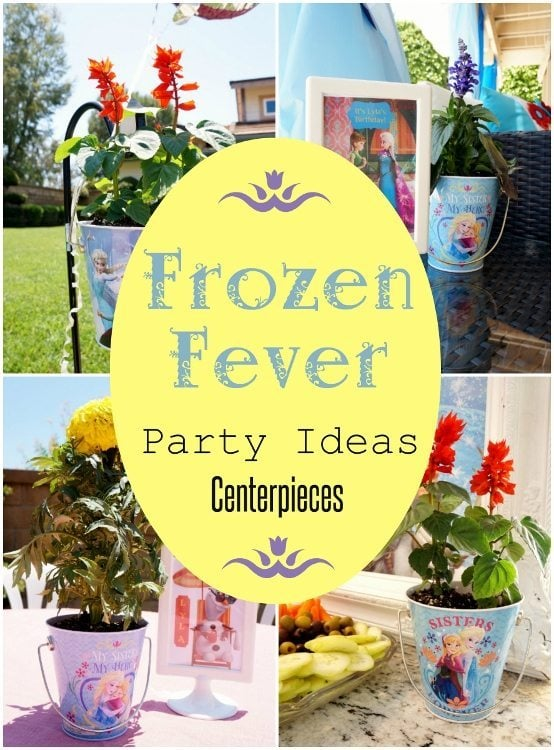 Frozen Fever Party Ideas - Fresh Flower Centerpieces