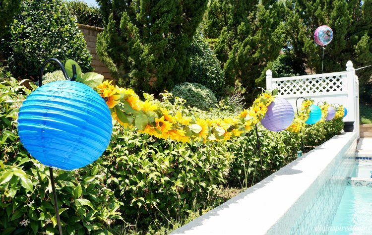 Frozen Fever Sunflower Garland with Lanterns