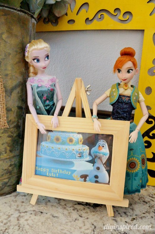 Frozen fever Party Decorations with Anna and Elsa