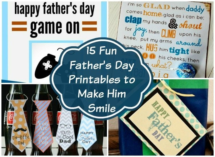15 Fun Father's Day Printables to Make Him Smile