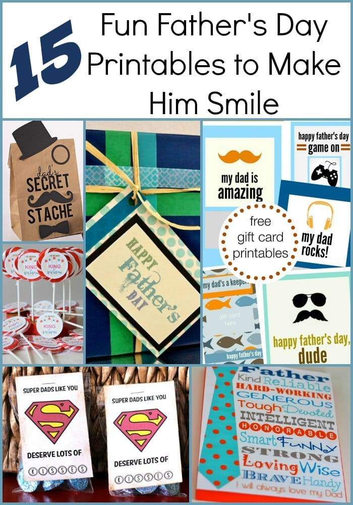 Fun Father's Day Printables to Make Him Smile