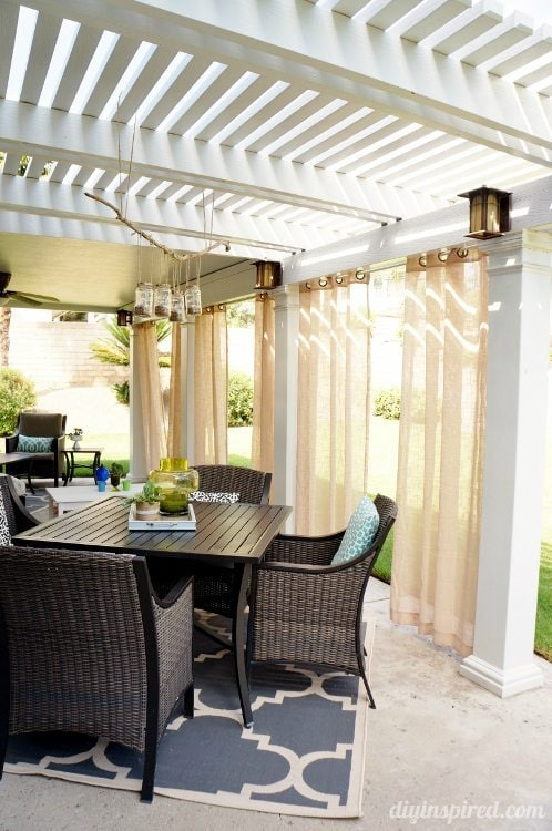 Patio Makeover with Curtains