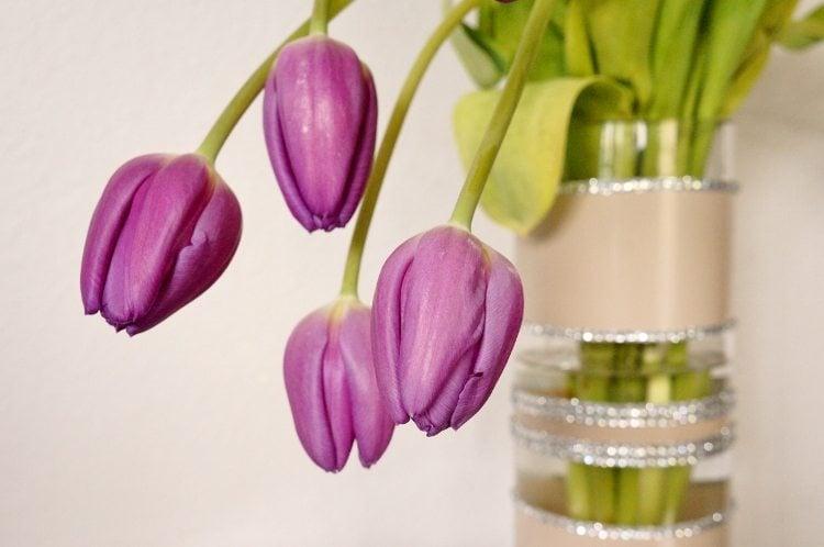 Spray Paint and Rhinestone DIY Wedding Vase