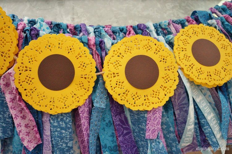 Sunflower Paper Party Banner