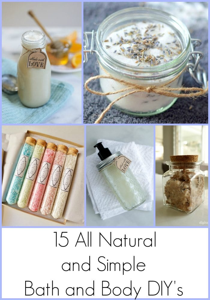All Natural and Simple Bath and Body DIYs DIY Inspired