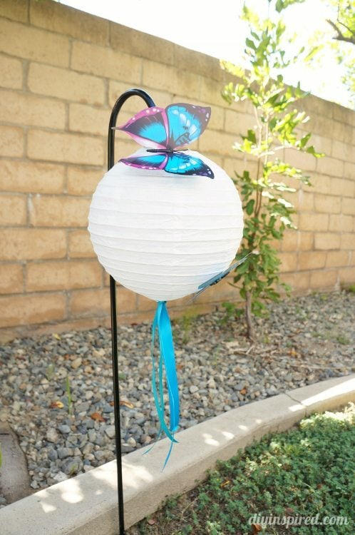 Blue Butterfly Lanterns