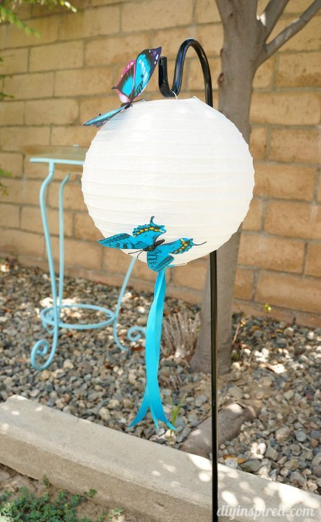 Blue Butterfly Party Hanging Lanterns