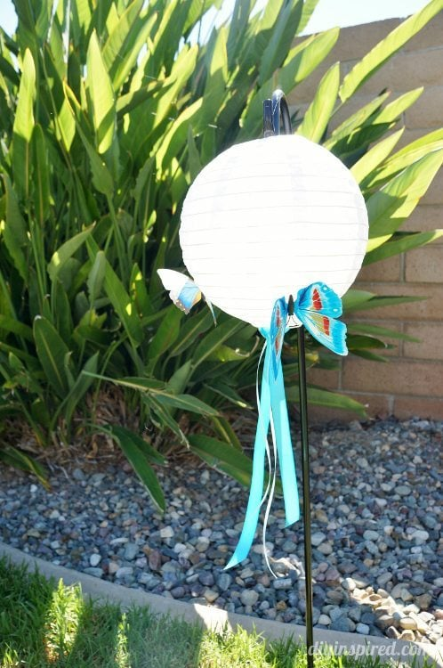 Blue Butterfly Party Lanterns