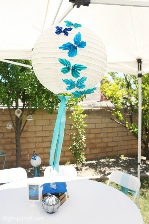 Blue Ombre Butterfly Party Lanterns