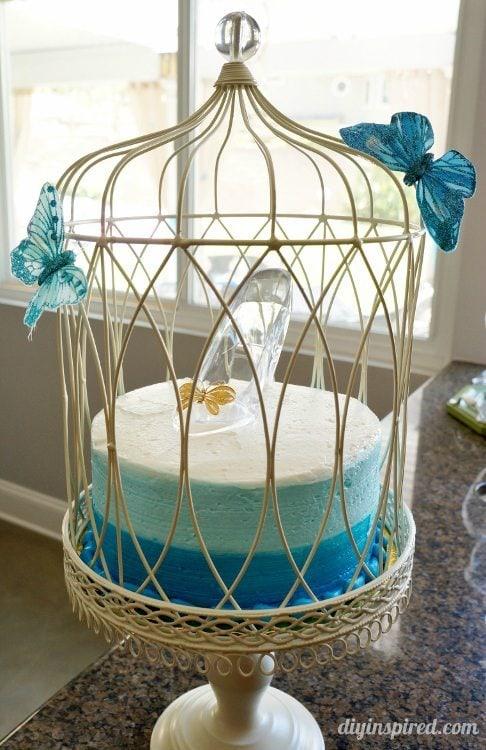 Cinderella Blue Ombre Cake