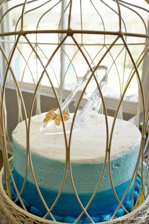 Cinderella Cake with Glass Slipper