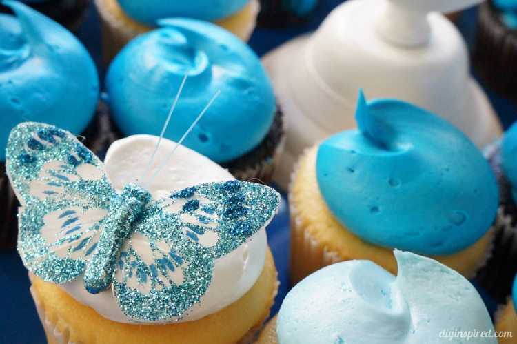 Cinderella Movie Cupcakes with Butterflies