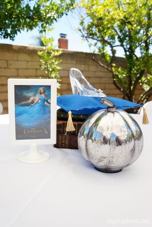 Cinderella Party Centerpieces with Pumpkin