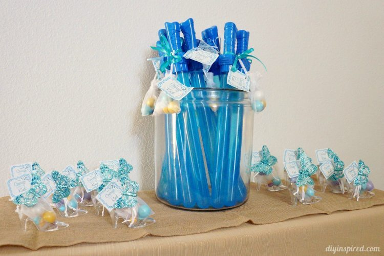 Cinderella Party Favors Glass Slippers and Swords
