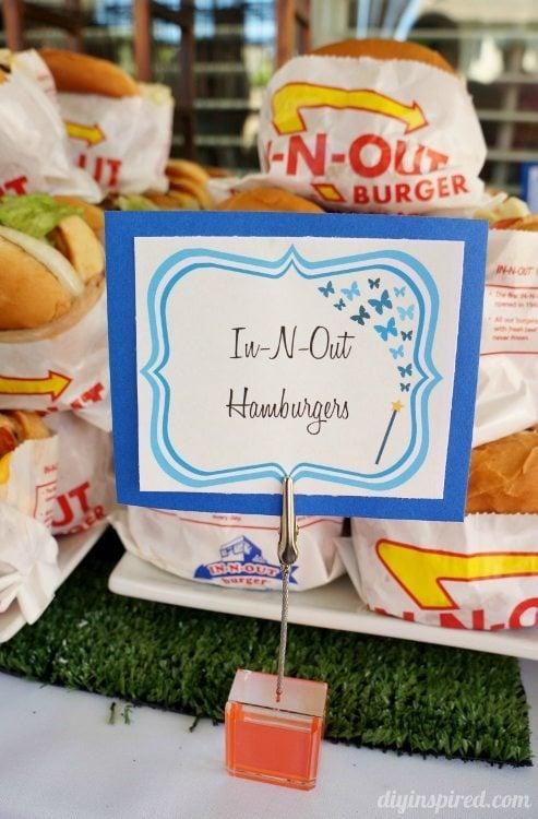Cinderella Party Food Hamburgers