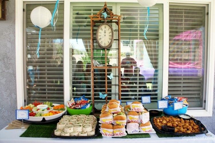 Cinderella Party Food Table