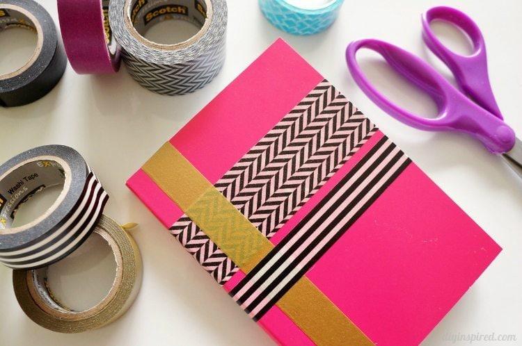 DIY Washi Tape Notebooks Craft