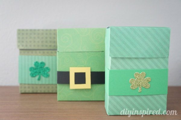 Green Paper Treat Boxes