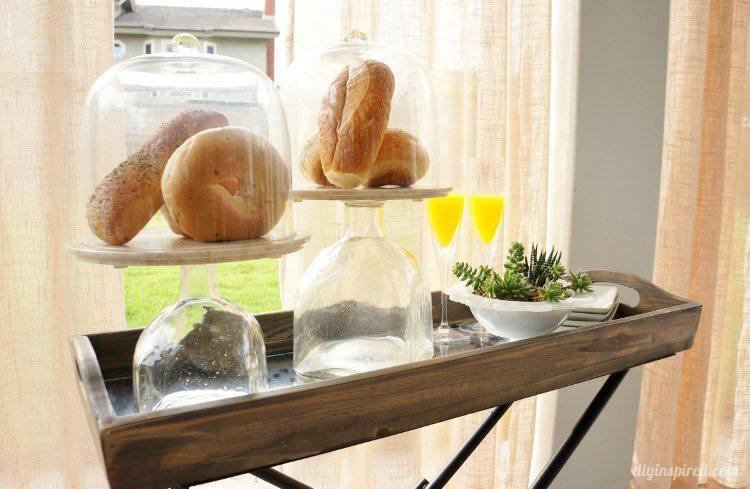 Repurposed Patron Bottle Serving Platter DIY Inspired