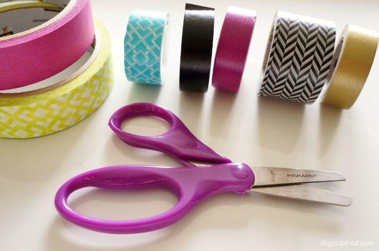 Washi Tape and Fiskars Kid Scissors