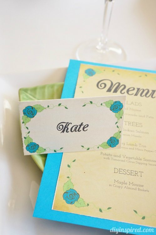 DIY Dinner Party Place Cards