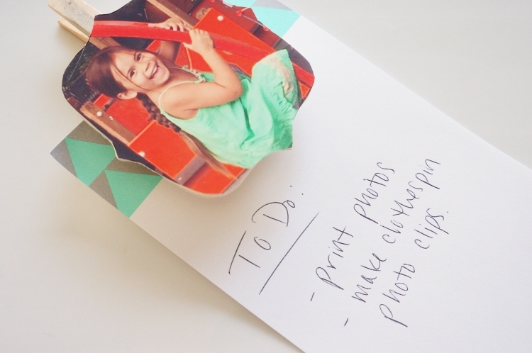 DIY Photo Clips for Shopping Lists