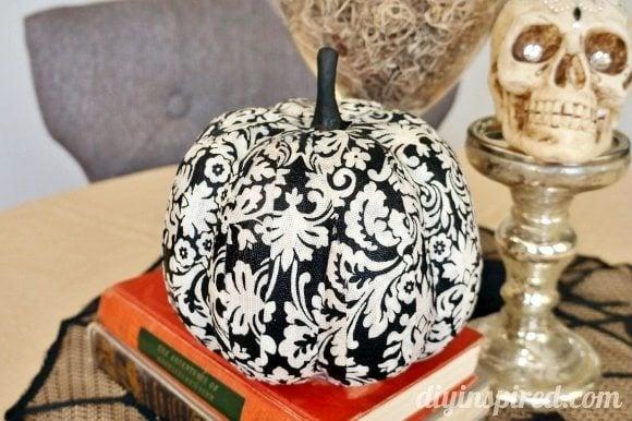 Decoupage Fabric Pumpkin How To