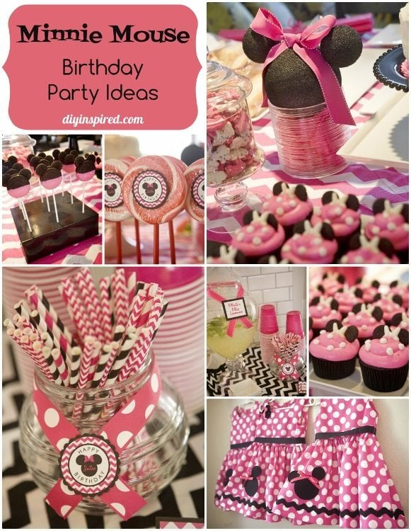 Admirable Minnie Mouse Birthday Party Diy Inspired Funny Birthday Cards Online Alyptdamsfinfo