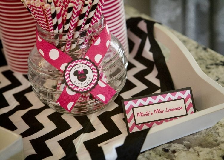 Minnie Mouse Birthday Party Lemonade