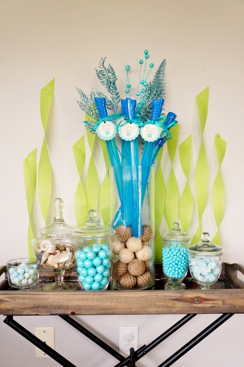 The Little Mermaid Party Candy Bar