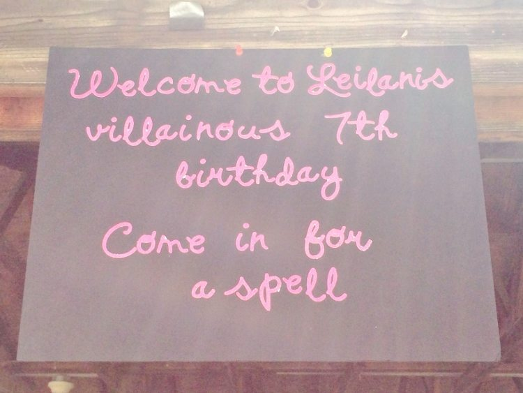 Villain Birthday Party Welcome Sign