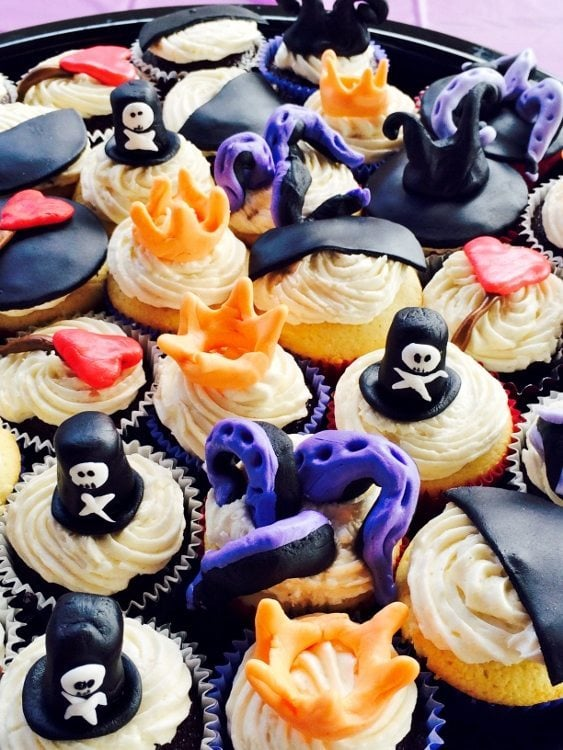 Villains Birthday Party Cupcakes