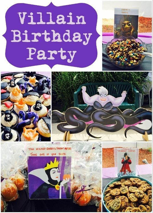 Villains Birthday Party DIY Inspired