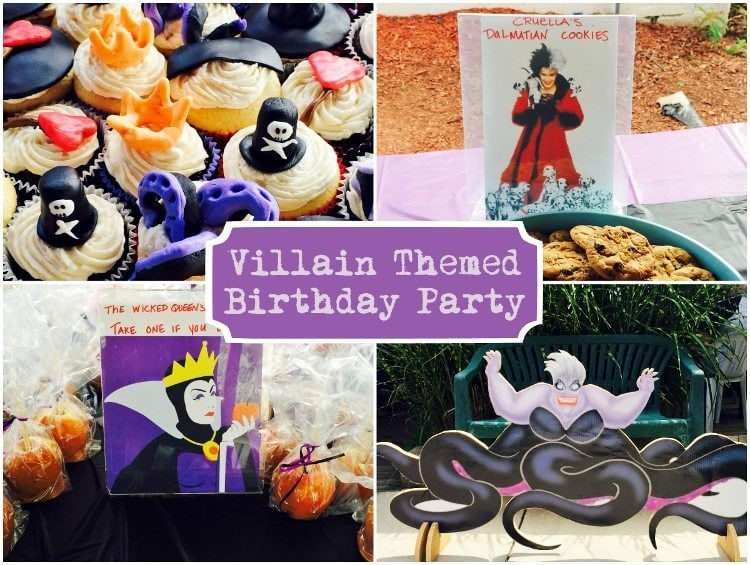 Villains Birthday Party Ideas